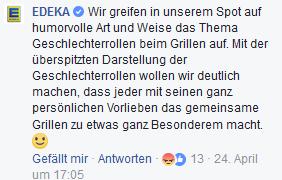 Edekas Statement zu seinem Grill-Werbespot