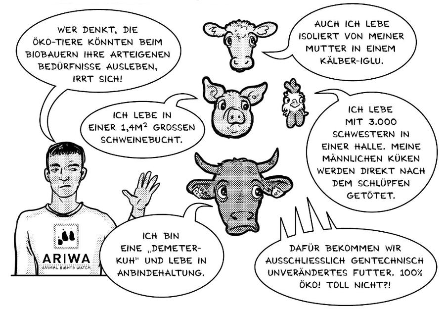 Tierethik – Der Comic: Ökotierhaltung
