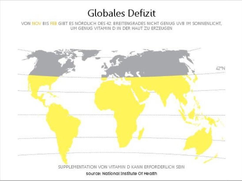 Weltkarte mit 42. Breitengrad.