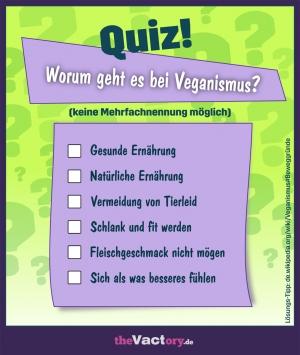 Quiz – Worum gehts beim Veganismus?