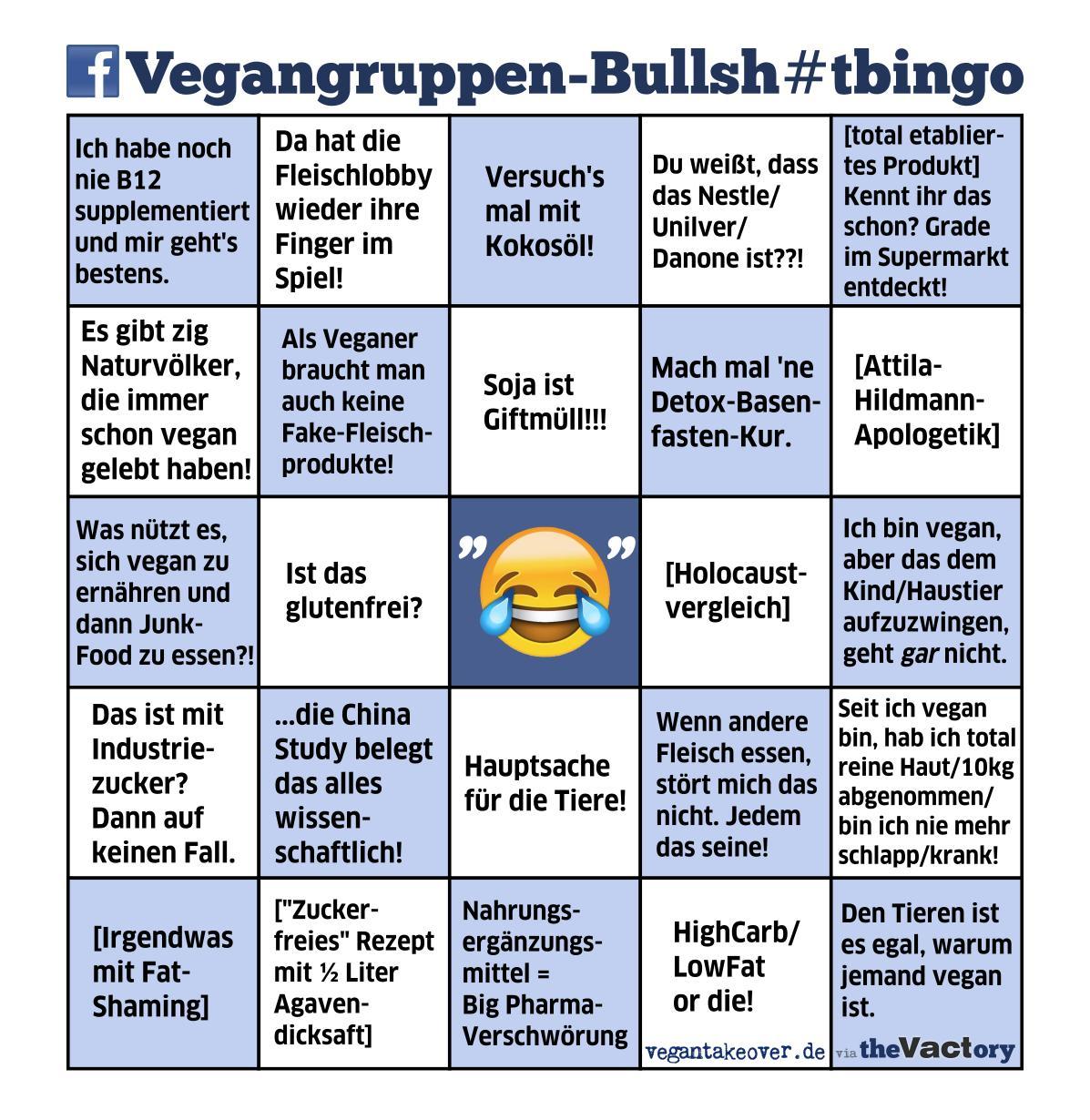 Facebook Vegangruppen-Bingo