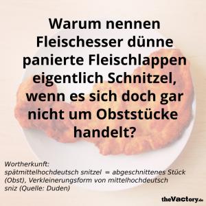 Schnitzel - Wortherkunft