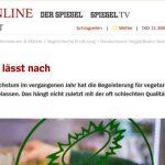 SPON: Veggie-Boom lässt nach